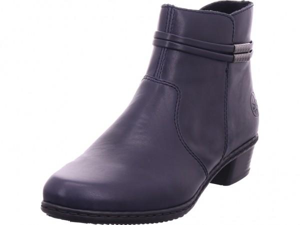 Rieker Damen Stiefel Stiefelette Boots elegant blau Y0781-14
