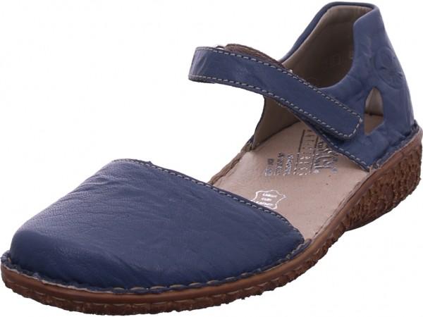 Rieker Damen Sandale Sandalette Sommerschuhe blau M0969-13