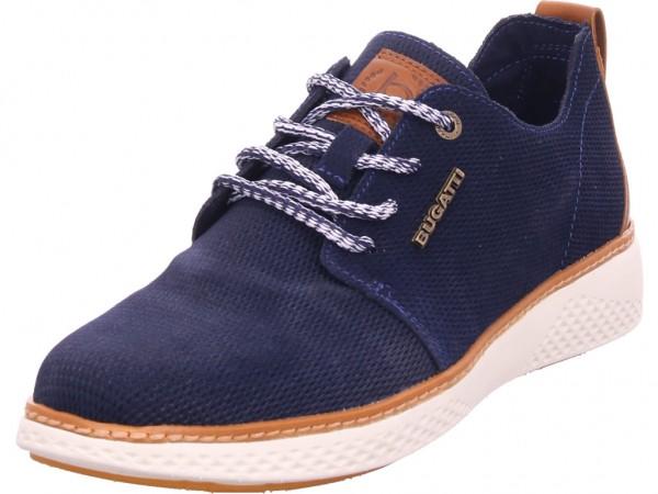 Bugatti Dexter Herren Schnürschuh Halbschuh sportlich Sneaker blau 321763071400-4100