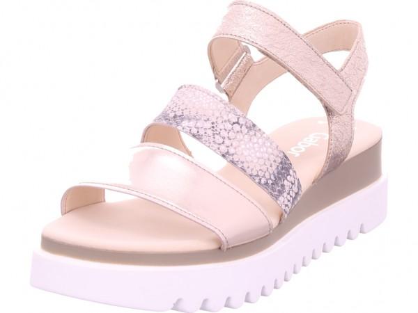 Gabor Damen Sandale Sandalette Sommerschuhe beige 44.610.64