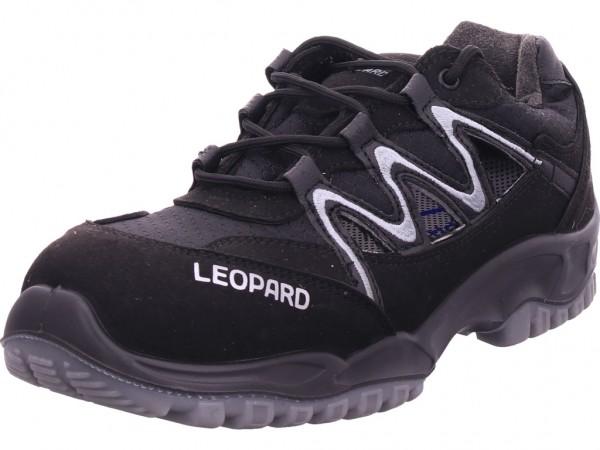 Leopard Sicherheitshalbschuh S1 Unisex - Erwachsene Arbeitsschuhe Sicherheitsschuhe schwarz 04221