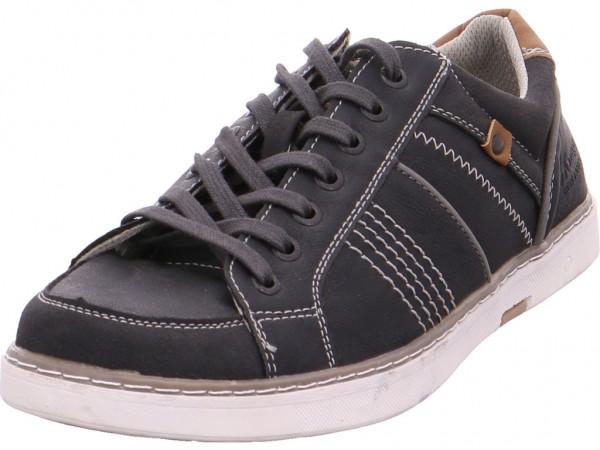 Pep Step Schnürhalbschuhe - Sportboden Herren Schnürschuh Halbschuh sportlich Sneaker schwarz 7517006-Black