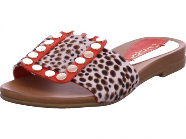 cafenoir Damen Pantolette Sandalen Hausschuhe Clogs Slipper rot GA109324
