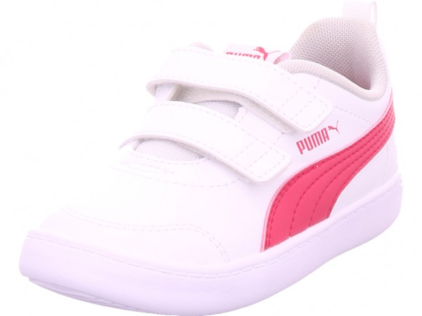 Puma Courtflex Mädchen Sneaker weiß 371544