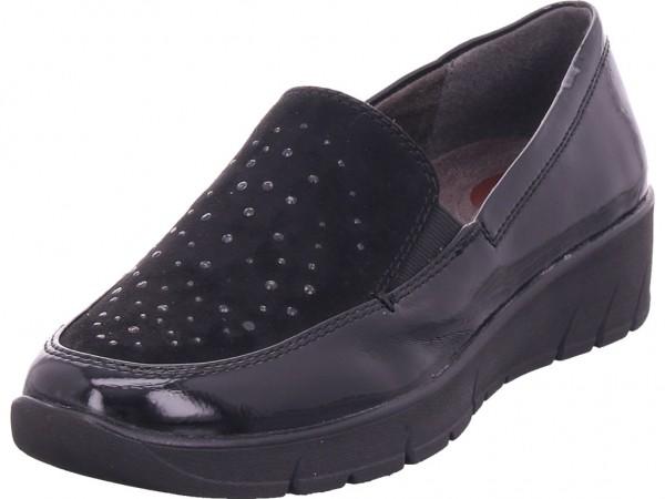 Jana Woms Slip-on Damen Sneaker Slipper Ballerina sportlich zum schlüpfen schwarz 8-8-24703-23/001-001