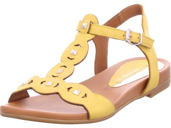 cafenoir Damen Sandale Sandalette Sommerschuhe gelb GA1031958