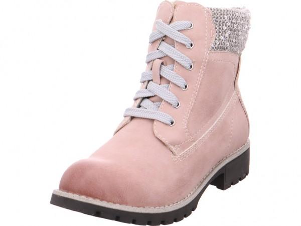 Jana Da.-Stiefel Damen Winter Stiefel Boots Stiefelette warm Schnürer rot 8-8-26214-29/521-521