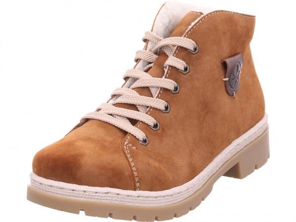 Rieker M943024 M94 Damen Winter Stiefel Boots Stiefelette warm Schnürer braun M9430-24