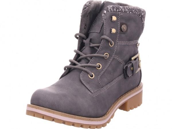 Jane Klain SchnUErstiefel KF sportlich-Pr Damen Winter Stiefel Boots Stiefelette warm Schnürer grau 252353000/256