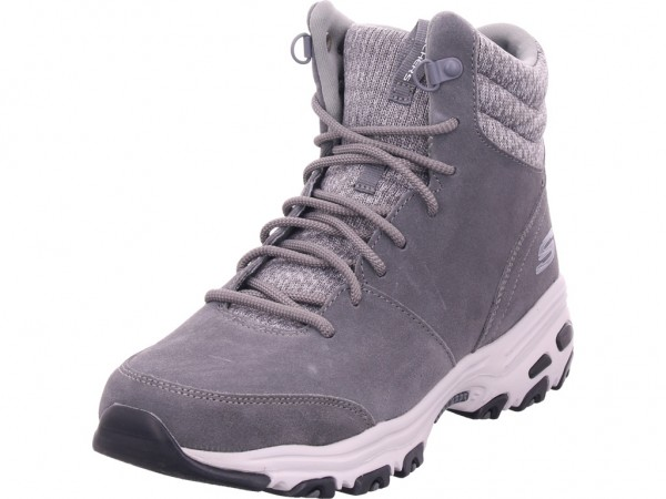 SKECHERS D'LITES - CHILL FLURRY,Grau Damen Winter Stiefel Boots Stiefelette warm Schnürer grau 49727 CCL