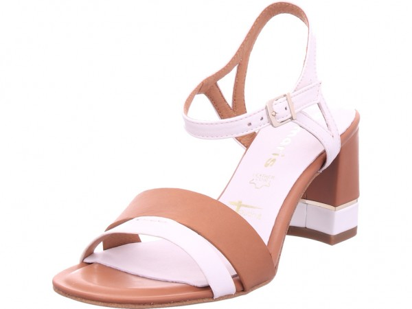 Tamaris Damen Sandale Sandalette Sommerschuhe weiß 1-1-28033-24/144-144