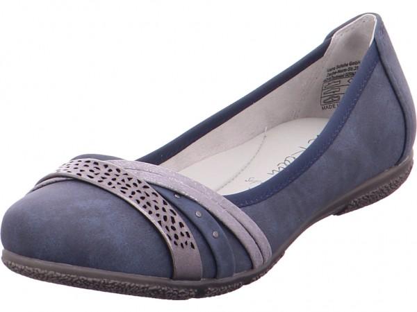 Jane Klain Ballerina glatt und sportlich Damen Ballerina blau 221899000/835