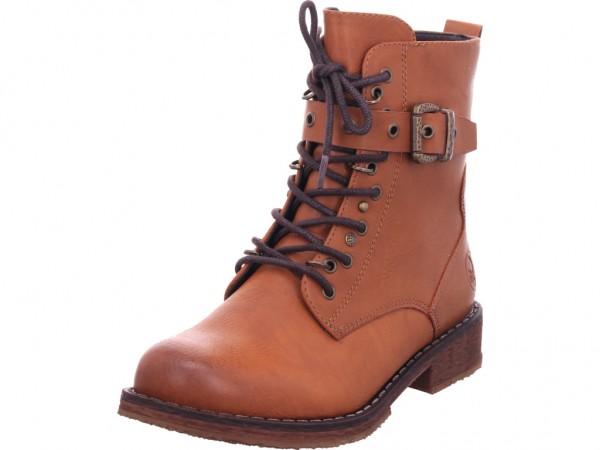 Rieker Damen Stiefel Schnürer Boots Stiefelette zum schnüren braun 94453-24