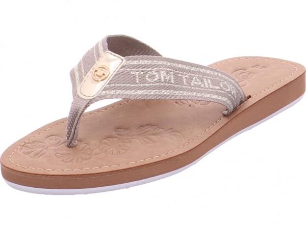 Tom Tailor Damen Pantolette Sandalen Hausschuhe beige 6991602