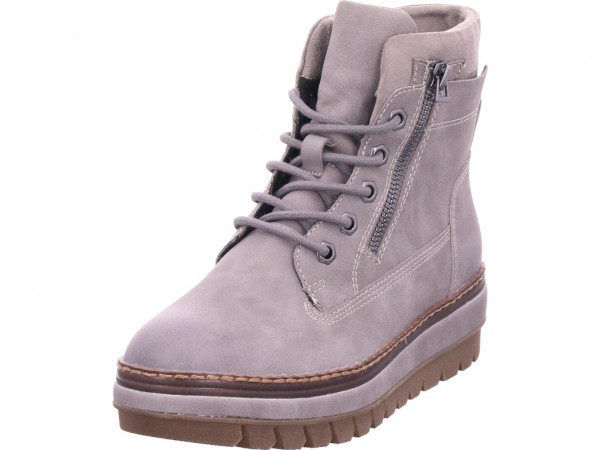 Tamaris Da.-Stiefel Damen Winter Stiefel Boots Stiefelette warm Schnürer grau 1-1-25223-23/265-265