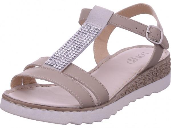 longo Damen Sandale Sandalette Sommerschuhe beige 1025179-L206001