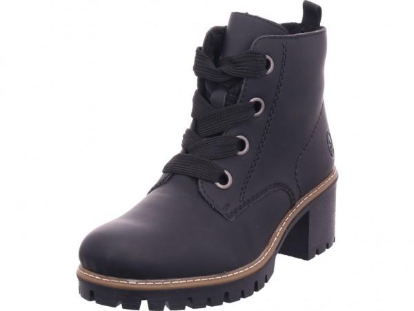 Rieker Y862000 Y86 Damen Winter Stiefel Boots Stiefelette warm Schnürer schwarz Y8620-00