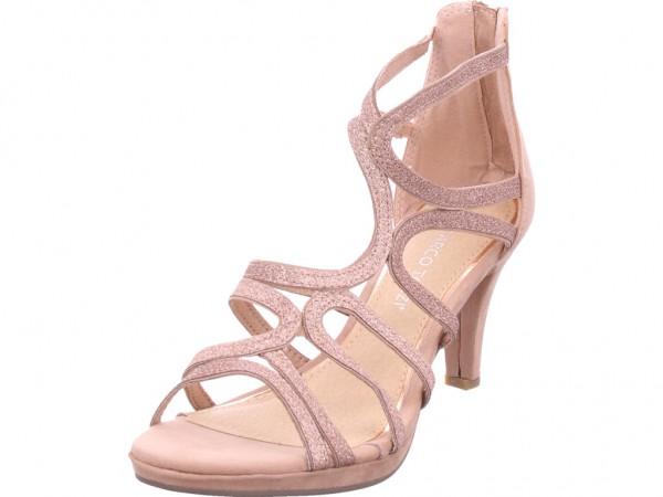 Marco Tozzi Da.-Sandalette Damen Sandale Sandalette Sommerschuhe beige 2-2-28373-34/478-478