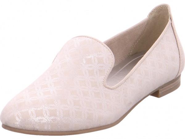 Marco Tozzi bis25 mm-gl.Bod.Abs Damen Sneaker Slipper Ballerina sportlich zum schlüpfen beige 2-2-24234-20-447