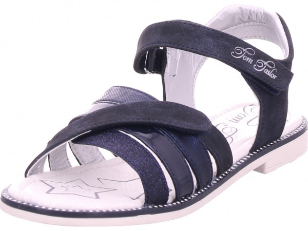 Tom Tailor Mädchen Sandale Sandalette Sommerschuhe blau 8071405