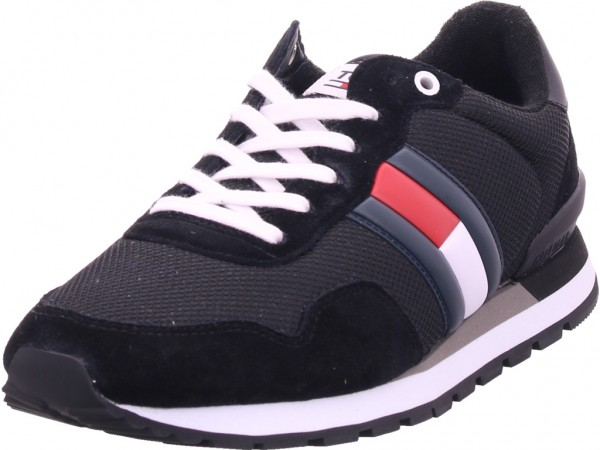 Tommy Hilfiger Herren Schnürschuh Halbschuh sportlich Sneaker schwarz EM0EM00399