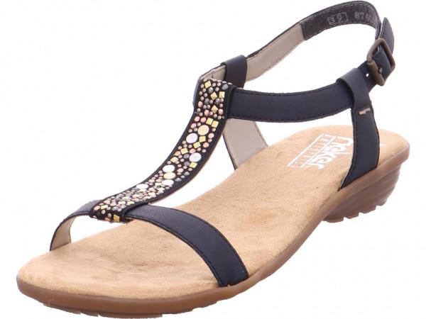 Rieker Damen Sandale Sandalette Sommerschuhe blau V348414