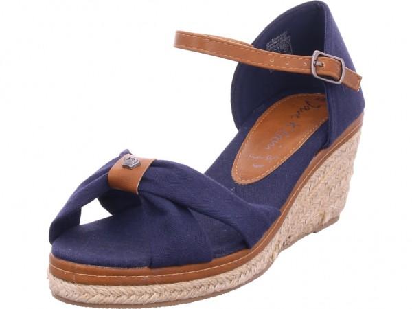 Jane Klain Sandalen glatter Boden UEber 5 Damen Sandale Sandalette Sommerschuhe blau 283858000/835