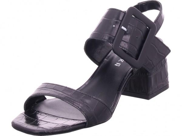 cafenoir Damen Sandale Sandalette Sommerschuhe schwarz LF126010