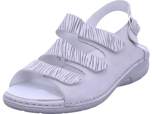 Waldläufer Damen Sandale Sandalette Sommerschuhe weiß 204003