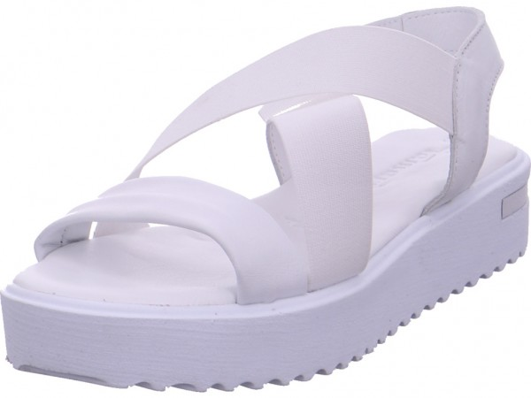 Tamaris Damen Sandale Sandalette Sommerschuhe weiß 1-1-28219-20/100-100