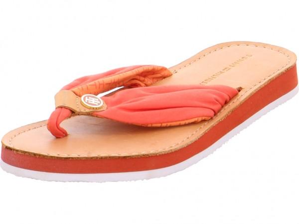 Bild 1 - hilfiger Damen Pantolette Sandalen Hausschuhe rot FW56820724