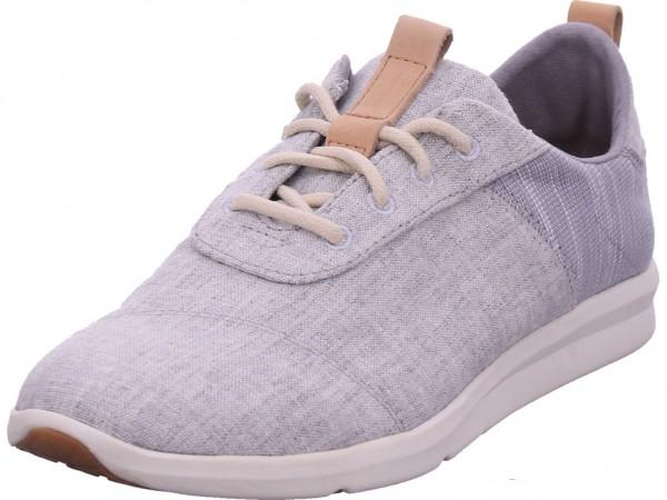 TOMS Cabrillo Drizzle Grey Chambray Damen Halbschuh Sneaker Sport Schnürer zum schnüren grau 10011751