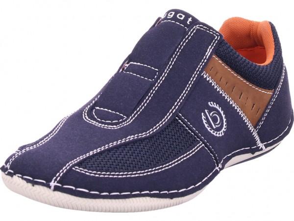 Bugatti Canario Herren Schnürschuh Halbschuh sportlich Sneaker blau 321480675400-4100