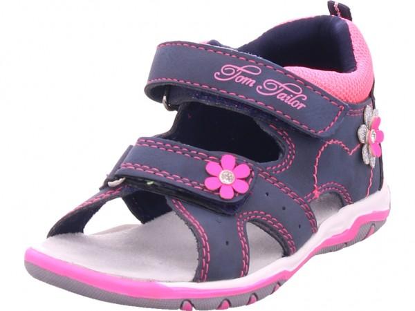 Tom Tailor Mädchen Sandale Sandalette Sommerschuhe blau 8073802