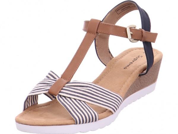Pep Step Damen Sandale Sandalette Sommerschuhe blau 6923202
