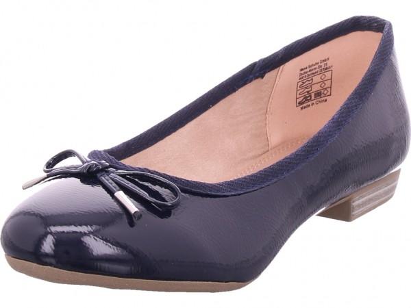 Jane Klain Ballerina glatt und sportlich Damen Ballerina blau 221121000/835