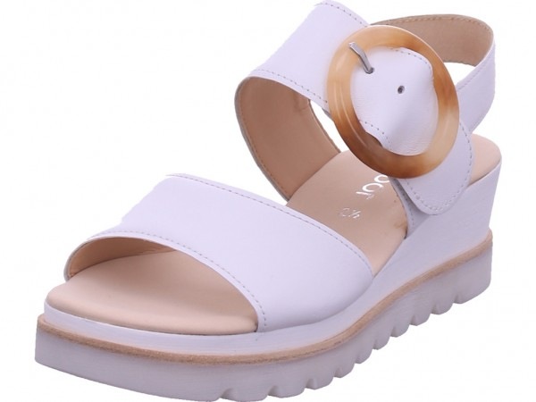 Gabor Damen Sandale Sandalette Sommerschuhe weiß 64.645.21