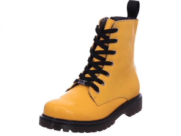 Imago Damen Stiefel Schnürer Boots Stiefelette zum schnüren gelb 262453000/608