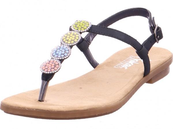 Rieker Damen Sandale Sandalette Sommerschuhe blau 64211-14
