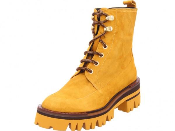 Zinda Damen Stiefel Schnürer Boots Stiefelette zum schnüren gelb 4461873