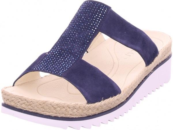 Gabor Damen Pantolette Sandalen Hausschuhe blau 23.720.16