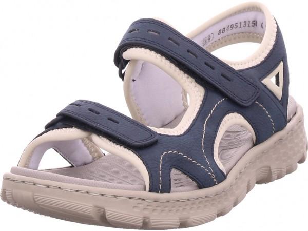 Rieker Damen Sandale Sandalette Sommerschuhe blau 67866-14