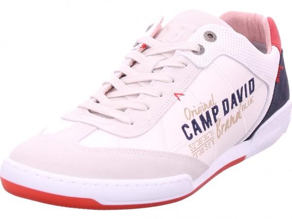 Camp David Herren Schnürschuh Halbschuh sportlich Sneaker weiß CCU 2002-8894