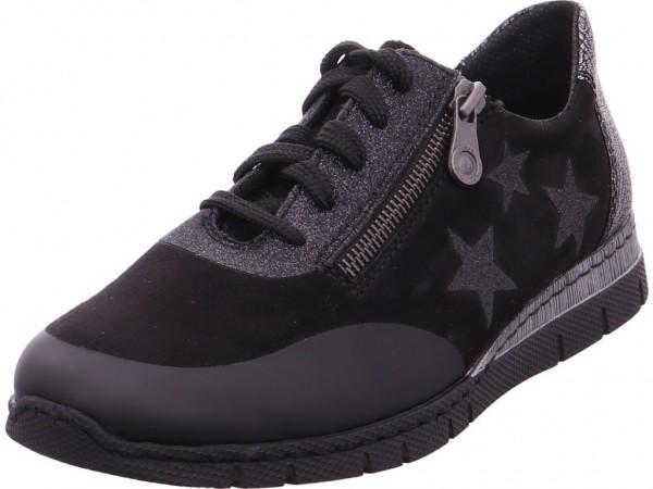 Rieker Damen Sneaker schwarz N5322-02