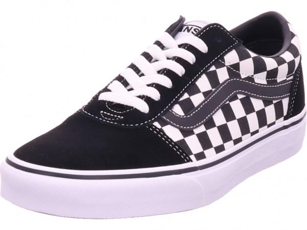 Vans MN Ward,(Checkered) black/true Herren Schnürschuh Halbschuh sportlich Sneaker schwarz VN0A38DMPVJ1