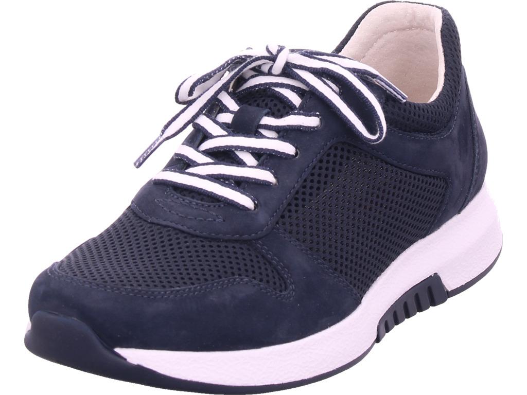 Gabor Damen Halbschuh Sneaker Sport Schnürer zum schnüren blau 46.946.46