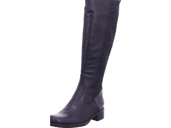 Rieker Damen Stiefel lang Overknees Boots Langschaft blau Z7371-14