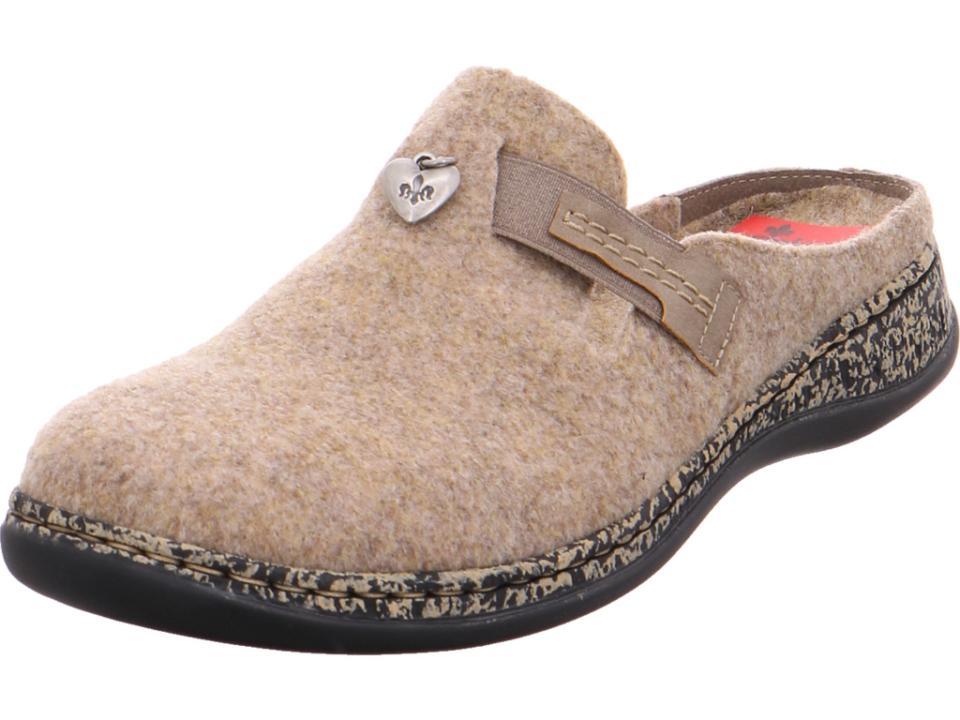 24 Damen Pantolette Rieker Schuhe Braun 46300 Hausschuhe