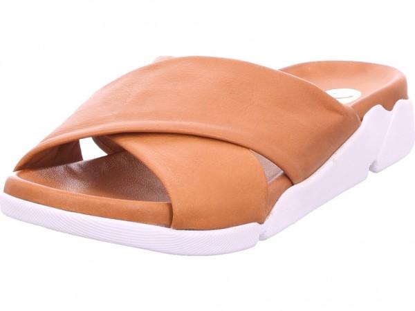 Maca Damen Pantolette Sandalen Hausschuhe braun 2489
