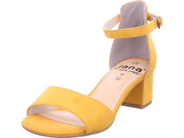 Jana Da.-Sandalette Damen Sandale Sandalette Sommerschuhe gelb 8-8-28314-24/627-627